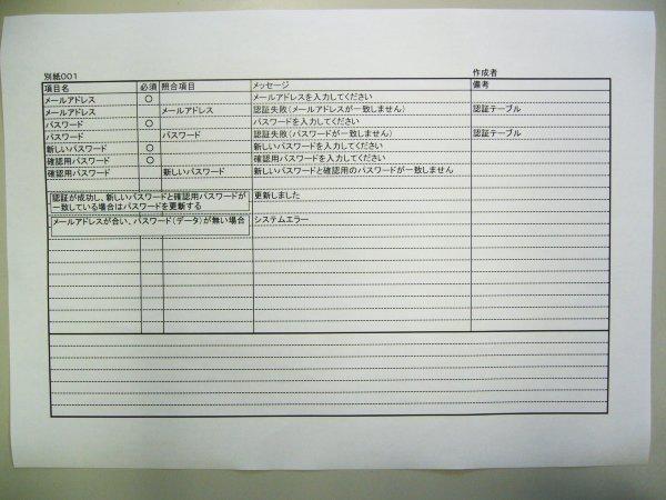 プログラム 設計 書 サンプル